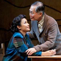 Lea Salonga as Kei Kimura and George Takei as Ojii-san in the World Premiere of Allegiance - A New American Musical, with music and lyrics by Jay Kuo and book by Marc Acito, Kuo and Lorenzo Thione, directed by Stafford Arima, Sept. 7 - Oct. 21, 2012 at The Old Globe. Photo by Henry DiRocco.